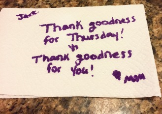 Thank Goodness for Thursday and Thank Goodness for you!